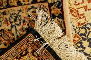 Corner of rug closeup