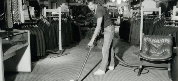 Old photograph A.T. Brown & Son carpet cleaning