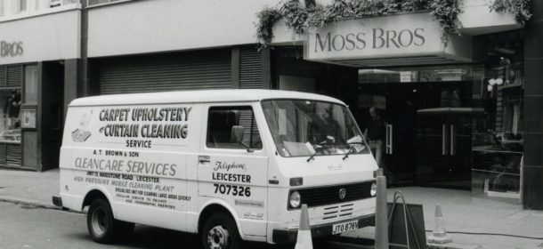 Old photograph A.T. Brown & Son van